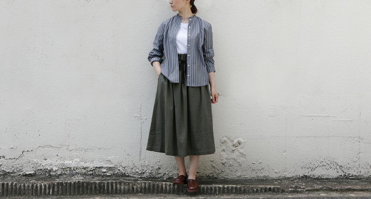 "mumokuteki×LILASIC / コットンフリル襟長袖シャツ特集6"" width="
