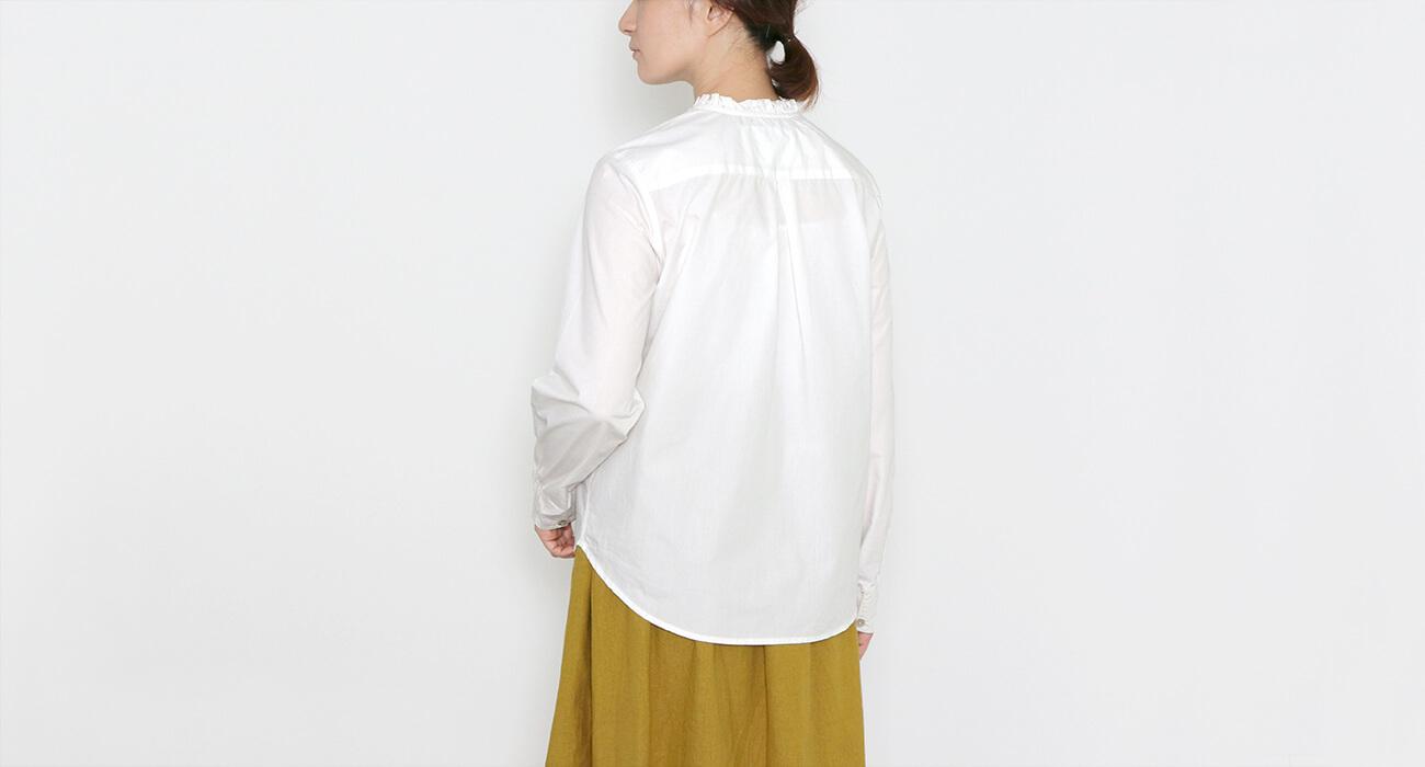 "mumokuteki×LILASIC / コットンフリル襟長袖シャツ特集4"" width="