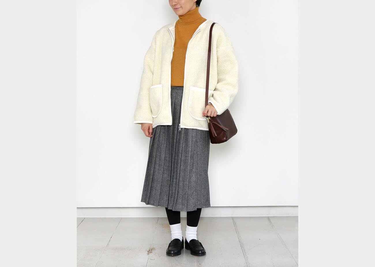 "mumokuteki×08Mab / ツイードプリーツキュロットパンツ特集7"" width="
