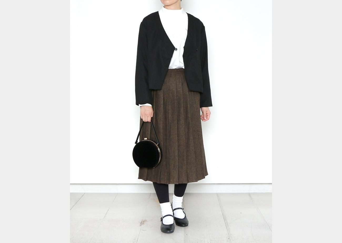 "mumokuteki×08Mab / ツイードプリーツキュロットパンツ特集9"" width="