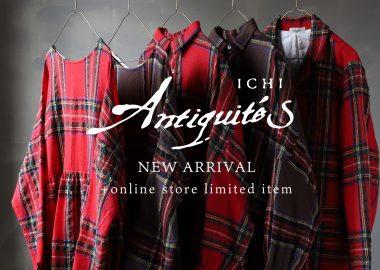 "ichi Antiquite's新作 Wool Tartan Collection""RED"""
